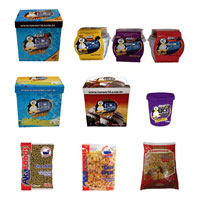 Produtos derivados do fruto açaí, sorvetes e cereais