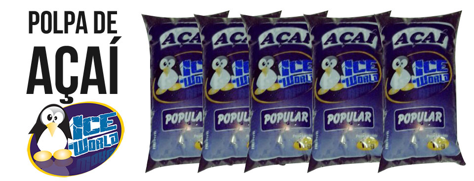 Polpa de Açaí Ice World Popular, Média e Especial 1K